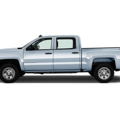 Chevrolet Silverado 1500<br>(2014-2018) Textured Tough Visors<br>Crew Cab Only