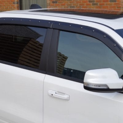 Dodge RAM 1500 (2019-Up)<br> Textured Tough Visors<br> Crew Cab Only