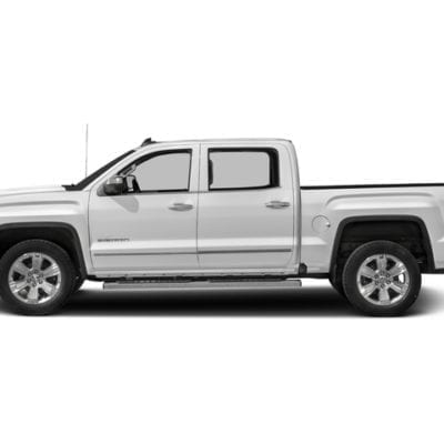 GMC Sierra 1500 (2014-2018) Textured Tough Visors<br>Crew Cab Only