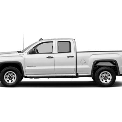 GMC Sierra 1500 (2014-2018) Textured Tough Visor<br> Double Cab Only