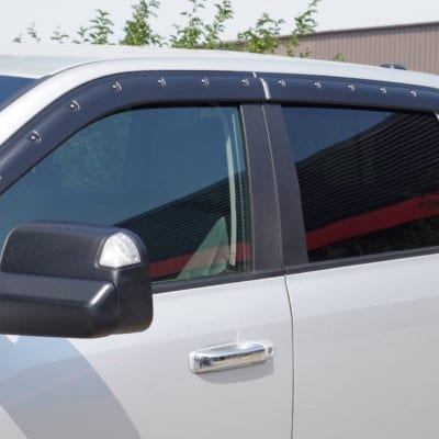 Dodge RAM 2500/3500 (2010-2019)<br>Textured Tough Visors<br> Quad Cab Only